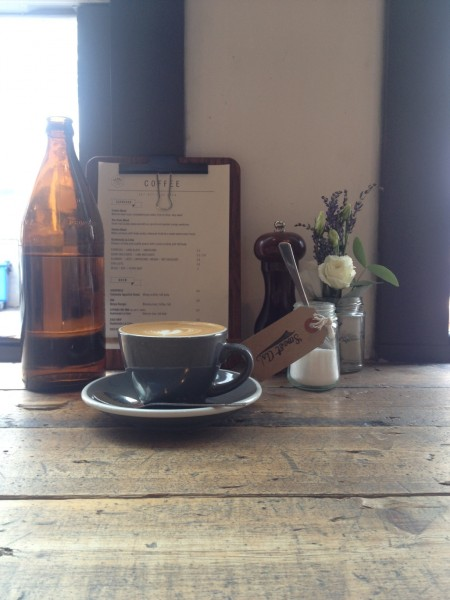 Flat white at Ozone Coffee Roasters