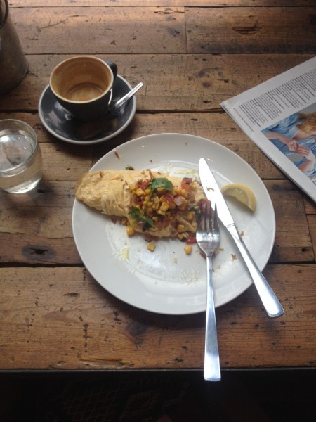 Omelette with smoked haddock - Ozone Coffee Roasters