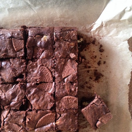 Pete's triple chocolate orange brownies