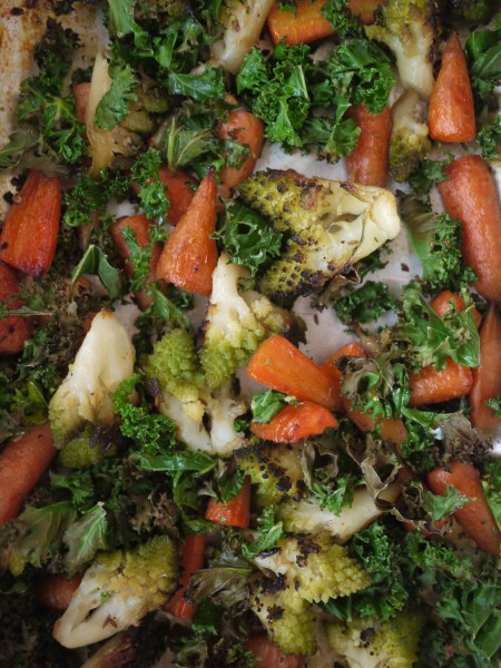 Spiced roasted veg