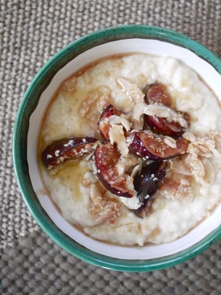 Porridge with caramelised figs and orange blossom