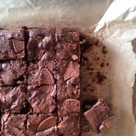 Pete's triple chocolate orange brownies