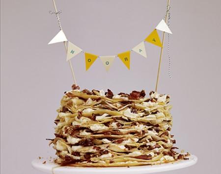 Maple and Pancetta Pancake Stack
