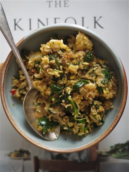 Pork chilli egg fried rice